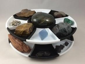 Bobine recyclée en carousel pour bijoux ou pierres - Spool recycling Jewels or stones carousel