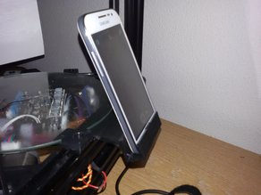 printer phone stand for recording.