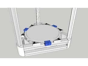 Anycubic Kossel Hotbed Glass Mounts