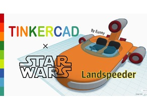 Simple Landspeeder with Tinkercad