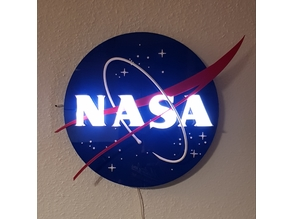 3D NASA Insignia / Logo / Sign /  - Lamp