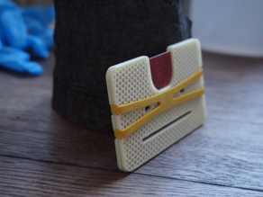 remixed card and rubber band wallet