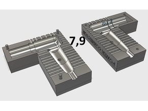 "Press mold for notebook power connector Ø7.9 mm like ""Г"""