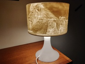 IKEA LAMPAN Lithophane lamp shade conversion