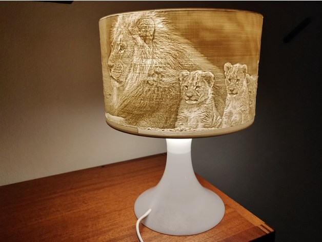 Ikea Lampan Lithophane Lamp Shade Conversion Nivs