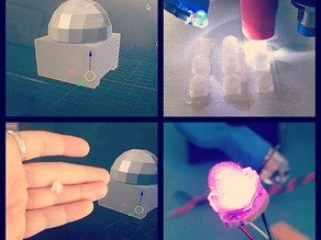 5050 RGB LED Rounded Diffuser Cap