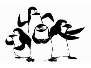 Penguins of Madagascar stencil