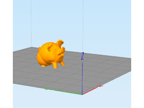 Supportless - Cute Pig (3D printer test)