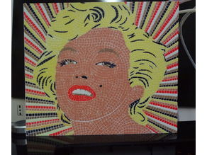 Marilyn Monroe Mosaic -  6 colors printable mosaic