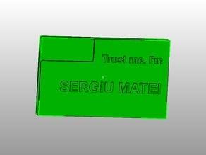 Business Card Holder: Trust Me