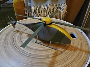 Fully Printable Collective Pitch RC helicopter.