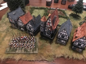 Lasercut Medieval Houses