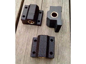 Linear bearing blocks (8mm) for brass bushings (Anet A8, A6 and others)