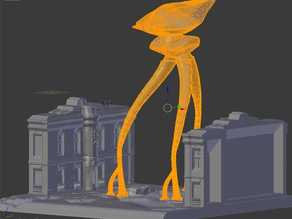 tripod similiar to war of the worlds 21 century version.