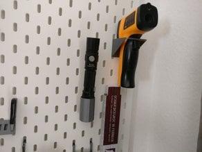 Ikea Skadis Flashlight Holder (Thrunite TC12)