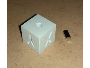 XYZ 20mm Calibration Cube with magnet remix