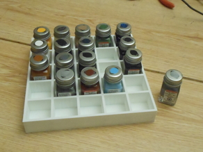Testors paint bottle tray...