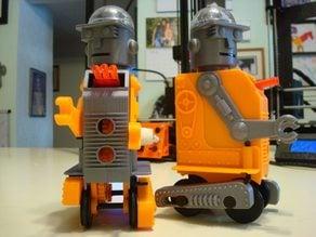 "Mr. Defender 3d printed windup Robot  ""Remix"""