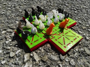 Fox & Hen [Board Game] (or Fox & Geese)