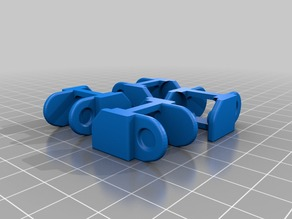 Cable Chain with Rounded Corners for Easier Printing
