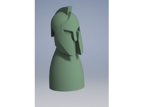 Spartan figure for a board games