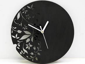 Wall Clock Modern Floral Design