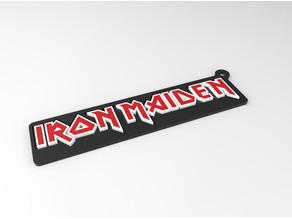 Dual Color Iron Maiden Keychain