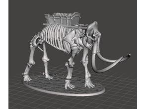 28mm Skeleton Warrior Mammoth (no crew)