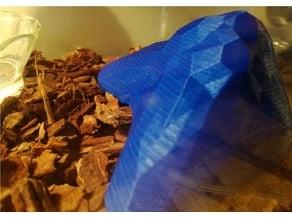 Shelter for a snake in terrarium