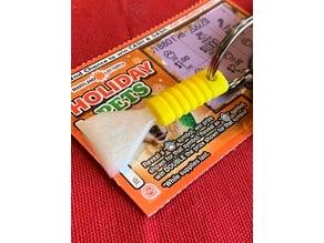 Lotto / Gift Card Ice Scraper Theme Keychain
