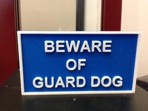 Beware of Guard Dog Sign V2