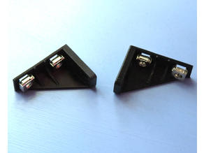 1U Vertical Rack Mount Brackets w/ square holes for cage nuts