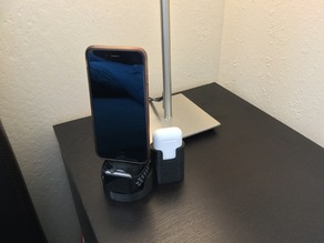 Customizable Apple Devices Stand (iPhone + Apple Watch + Airpods)