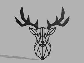 Deer Wall Sculpture 3 Part Printable