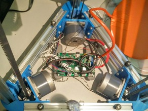 Mount brackets for AZSMZ Mini in Delta Printer