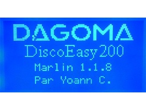 Marlin 1.1.8 pour DiscoEasy200 avec Ecran
