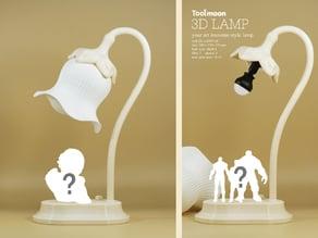 your art nouveau style lamp