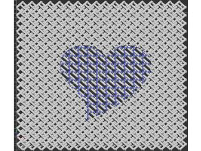 chainmail fabric with heart engraved