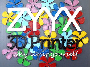 ZYYX Flower Sign - Multi Material Print