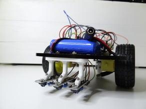 Line tracking sensors holder