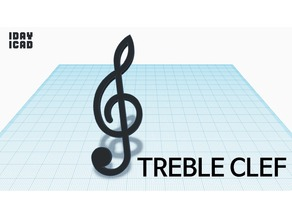 [1DAY_1CAD] TREBLE CLEF