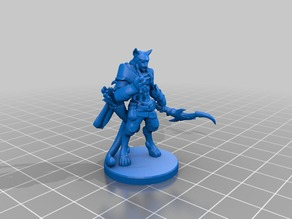 Tabaxi Blood Hunter Miniature