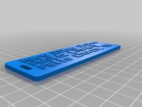 MRS Library Tag With 3D Letters