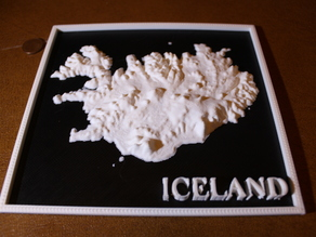 Iceland 3d map