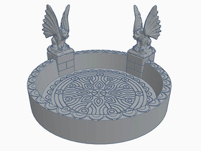 Gargoyle Circle Dice Tray for Dungeons & Dragons or Warhammer 40k Tabletop Games