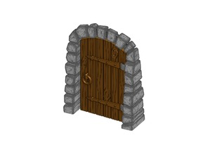 Stone Dungeon Door - Working with Wood Grain (Remix)