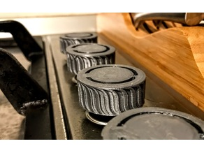 Cooktop or oven knobs