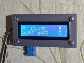 Box for home termometr on Arduino Pro Mini with LCD 1602.