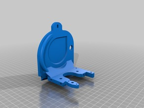 Lulzbot Taz 5 Combo Extruder Mount for Bltouch with diiicooler