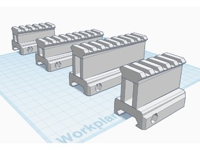 Picatinny Risers (25mm & 35mm) with Inclination